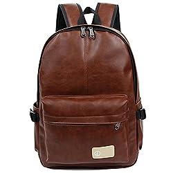 3508874e6689f 5 ALL Fashion Vintage Casual PU Leder Rucksack Schulrucksack Laptoprucksack  Reiserucksack für Damen Herren Mädchen Jungen