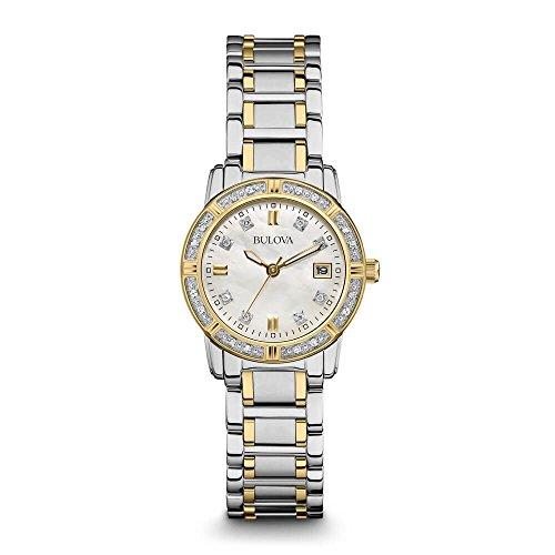 - Bulova Women's 98R107 Diamond Accented Calendar Watch