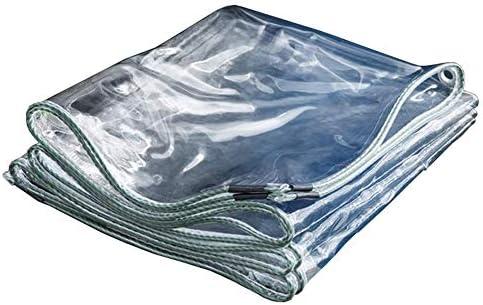 透明ターポリン バルコニー 防雨 太陽を遮らない 植物の成長を守る ターポリン - パッド入り 防寒 防風 キャンプフィッシングガーデニング用 (Color : Clear, Size : 4x5m)