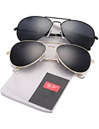 Classic Polarized Aviator Sunglasses for Men and Women UV400 Protection