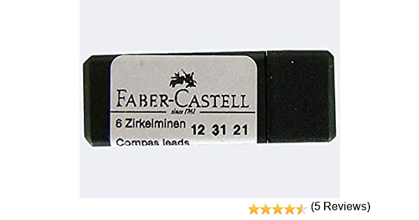 FABER-CASTELL - Caja de recambio para minas, 5 unidades: Amazon.es ...