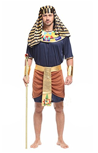 Seipe Adults Halloween Egyptian Couple Costumes Egyptian Queen&Guard Cosplay Outfits ()
