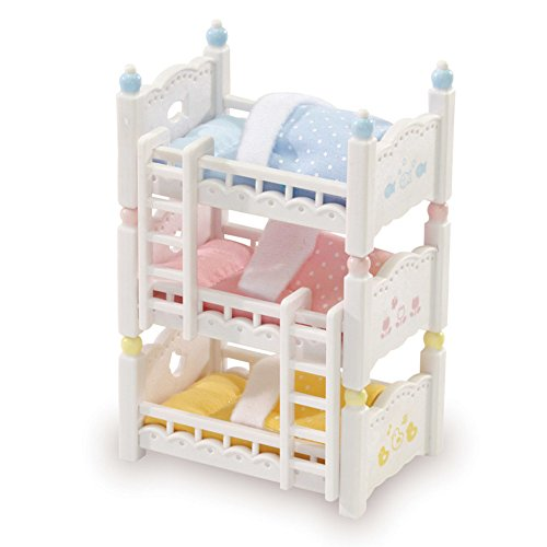 Calico Critters Triple Baby Bunk Beds Critter House Room Furniture
