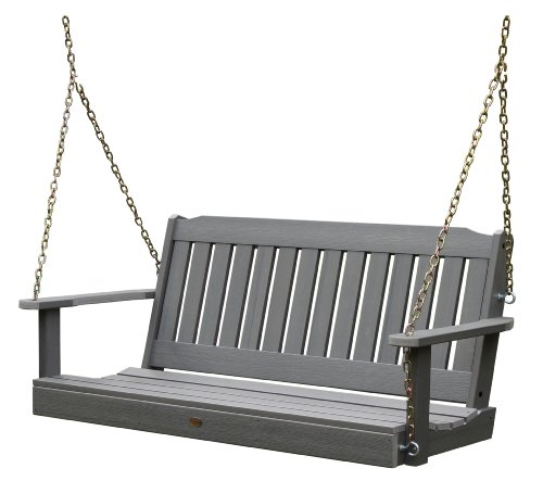 (Highwood AD-PORL1-CGE Lehigh Porch Swing, 5 Feet, Coastal Teak )