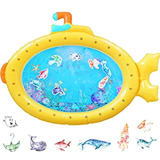 SENSORY4U Inflatable Tummy Time Baby Water Mat Submarine for Infants & Toddlers Play Mat Toy Activity Center