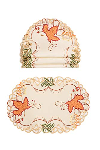 Xia Home Fashions Falling Leaves Placemat 13''x19'' Beige