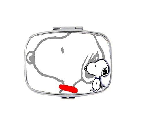 snoopy-custom-unique-silver-square-pill-box-medicine-tablet-organizer-or-coin-purse