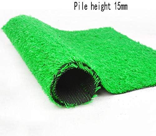 XEWNEG 庭用人工芝、パイルの高さ15mm、グリーンカーペットマット、掃除が簡単、滑り止め、自動浸水、屋外バルコニー装飾に最適 (Size : 2x3M)
