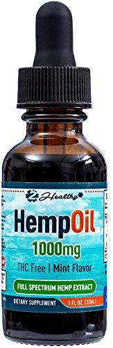 Hemp Oil for Pain & Anxiety Relief - 1440mg Organic Hemp Extract Drops Tincture - Natural Supplement for Better Sleep, Mood & Stress - Zero THC CBD Cannabidiol