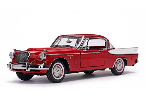 (1957 Studebaker Golden Hawk Apache Red 1/18 Diecast Model Car by Sunstar 6153)