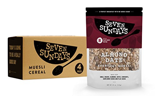 Seven Sundays No Added Sugar Almond Date Muesli (18oz, 4-Pack)