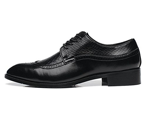 Oxford Shoes Men's Style Lace Snake Skin up Footwear Italian Black Party XIUWU 7OtFxqnF