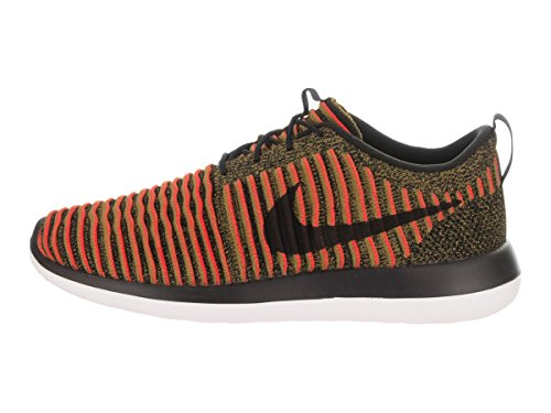 Black Max NIKE Running Two Orange Flyknit Shoes White Mens Black Roshe UUCFq