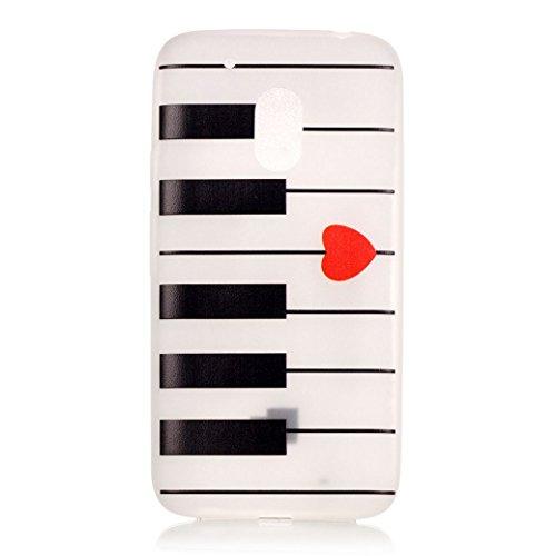 AllDo Funda Silicona para Motorola Moto G4 Play Carcasa Protectora Caso Suave TPU Soft Silicone Case Cover Bumper Funda Ultra Delgado Carcasa Flexible Ligero Caja Anti Rasguños Casco Anti Choque - La  Teclado de piano