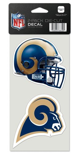 St. Louis Rams Auto Decals 2 Pack - 4'' by 4'' Each by WinCraft