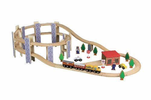 Maxim Lighting Toys For Play Wooden Train Set (50 Pieces)