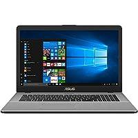 CUK ASUS N705UD VivoBook Pro Thin & Light Laptop, 17.3 Full HD, Intel i7-8550U Processor, 32GB RAM, 500GB NVMe SSD + 1TB HDD, NVIDIA Gaming GeForce GTX 1050, Backlit Keyboard, Windows 10, Star Gray