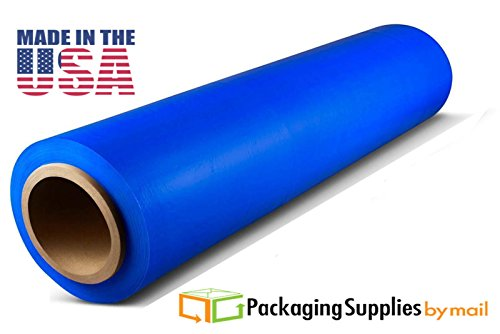 12 Rolls Blue Hand Pallet Wrap Plastic Stretch Film 18'' Wide x 1000 Ft. 100 Gauge by PSBM by PackagingSuppliesByMail