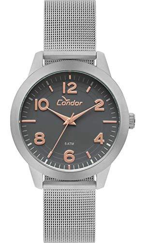 9bc7d8e55d4 Relógio Feminino Condor Analógico Co2036Kup 3C Prata  Amazon.com.br ...