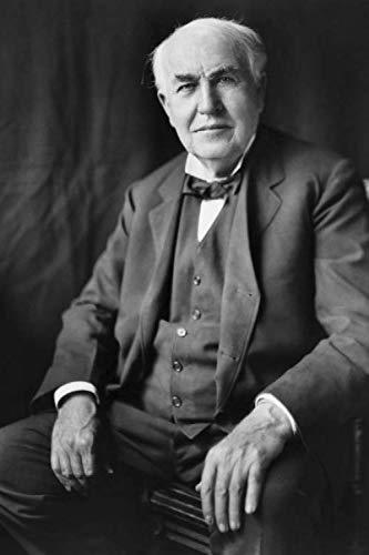 Thomas Alva Edison - achieve your goals, perfect 120 lined pages #1 (Thomas Alva Edison Notebooks) (Invention Of Light Bulb By Thomas Alva Edison)