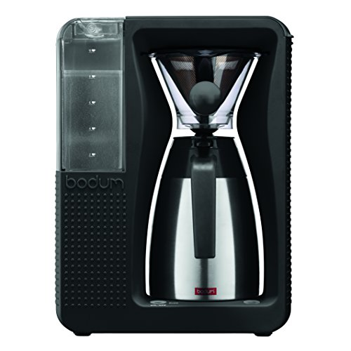 Bodum BISTRO Coffee Maker, Automatic Pour Over Coffee Machine with Thermal Carafe, Black, 40 Ounce ()