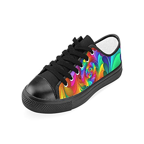 Artsadd Psychédélique Arc-en-spirale Personnalisé Chaussures En Toile Pour Les Femmes Model018 (2015 Nouvelle Arrivée)