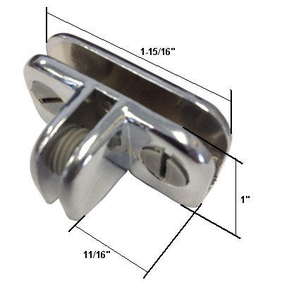 Chrome 3-Way Metal Adjustable Glass Diplay Connector