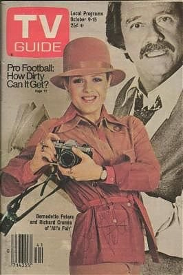 Tv 1976 Guide - TV Guide October 9-15, 1976 (Bernadette Peters and Richard Crenna of All's fair; Pro Football: How Dirty Can It Get?, Volume 24, No. 41, Issue #1228)