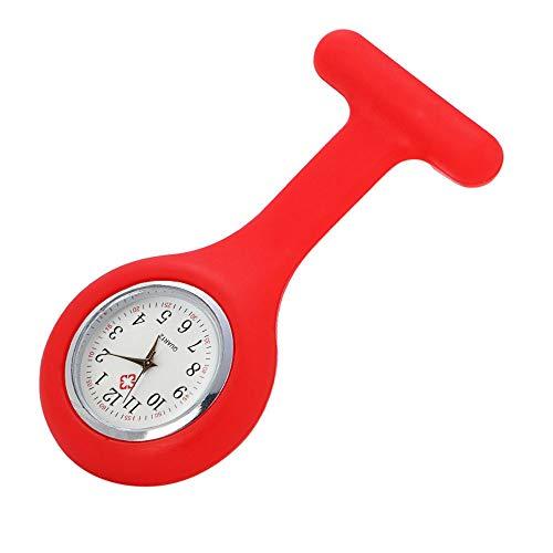 Respctful✿Nurse Watch Brooch Clip Fob Silicone Pocket Clock for Health Care Nurse Doctor Paramedic Medical Watch Purple