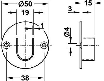 Garderobenstange Edelstahl Kleiderstange Schrankstange 2000 mm OVAL M/öbelbeschl/äge von GedoTec/® M/öbelrohr 30 x 15 mm Schrankrohr Edelstahl matt geb/ürstet