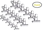 SBYURE 18 Pack Stainless Steel Clips Grips,Heavy Duty Clips for School Home, Kitchen Office,(Size:2 inch,2.5 inch, 2.9 inch)