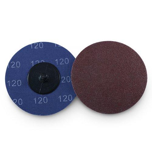 3'' Roloc Aluminum Oxide Quick Change Sanding Discs 120 Grit - 25 Pack