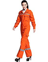 XinAndy Women's Orange Security Work Coverall