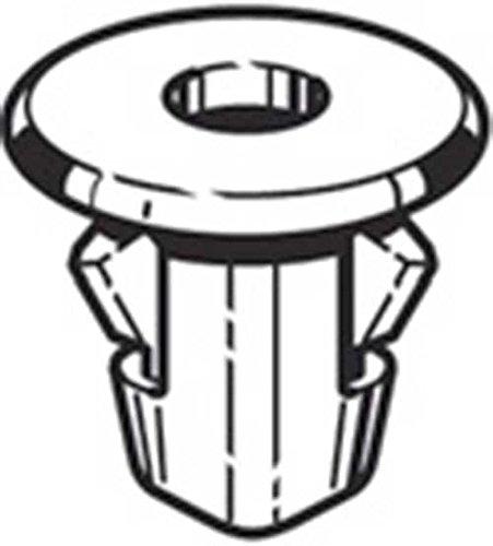 Madrevite in plastica colore Nero per Locari ripari passaruota Citroen C 1 in kit da 4 confezioni da 5 pezzi Aftermarket