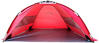 Leader Accessories EasyUp Beach Tent Quick Cabana Sun Shelter Family Use,Sets up in Seconds
