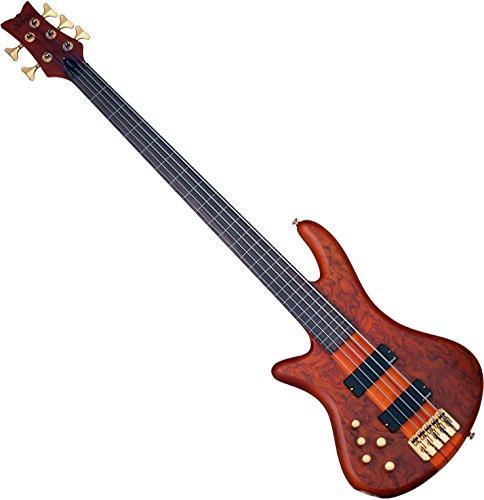 Fretless Left Bass Handed (Schecter Stiletto Studio-5 5-String Fretless Electric Bass Honey Satin (HSN)Left Handed)
