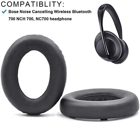Defean 交換用イヤーパッド Potein レザーと低反発素材 イヤーパッド Bose Noise Cancelling 700 Bose NCH 700 NC700 ヘッドホン用