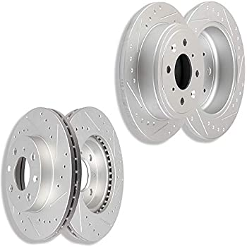 Front Performance Drilled And Slotted Brake Rotors For Integra Civic Insight Fit