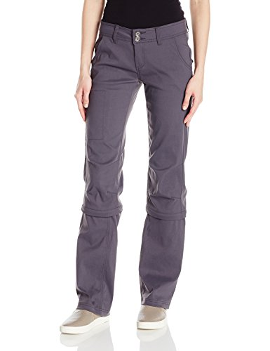 prAna Women's Halle Convertible - Tall Pants, Coal, Size 2