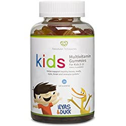 AMANAH VITAMINS - ILYAS & DUCK Children's Multivitamin Gummies - HALAL VITAMINS - 120 Count
