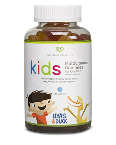 AMANAH VITAMINES - ILYAS & DUCK Enfants de Multivitamines Gummies - HALAL VITAMINES - 120 capsules