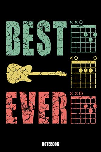 Best Ever Notebook: Music Music Log Book I Blank Sheet Music for Guitar and other Instruments I Music Manuscript paper I 6 String Chord I Teachers and ... Paperback 110 Sites especially made for you,