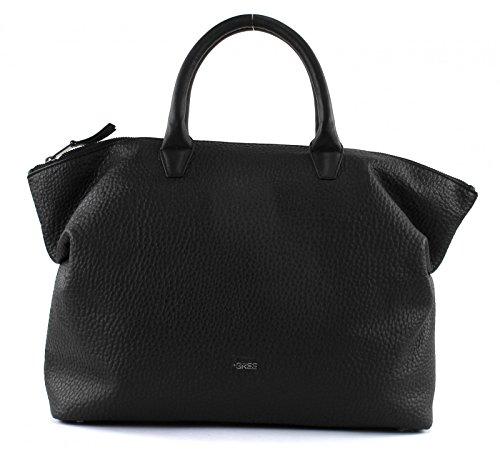 Bree Damen Black, Icon Bag S18 Handgelenkstasche, Schwarz (nero), 12x38x32 Cm