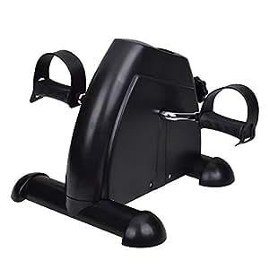Portable Exerciser Mini Bike Trainer Exercise Machine Desk Home Gym Pedal Cycle Black/White (Black)