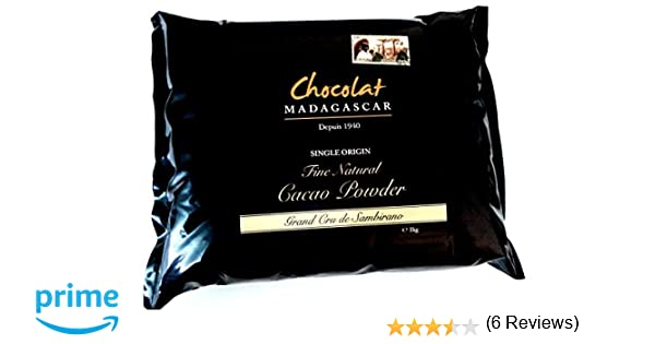 Chocolat Madagascar Grand Cru de Sambirano Cacao en Polvo No Alcalinizado 1kg: Amazon.es: Alimentación y bebidas