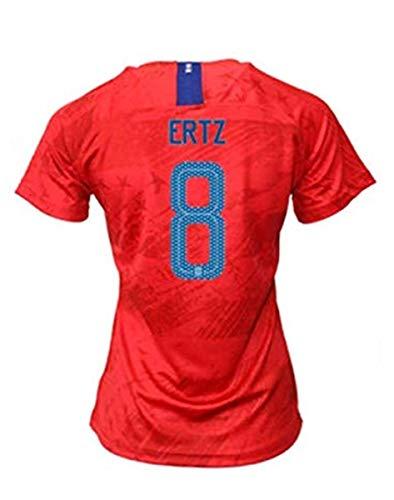 Julie Ertz #8 2019-2020 USA National Team Women's Away Soccer Jersey Red (XL)