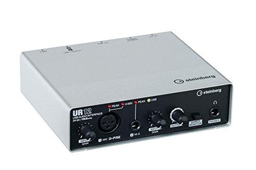 [해외]Steinberg UR12 USB 오디오 I (XLR, HI-Z 입력) D-PRE의 Cubase AI 및 XLR 케이블/Steinberg UR12 USB Audio I O (XLR in, HI-Z in) D-PRE`s w Cubase AI and XLR Cable