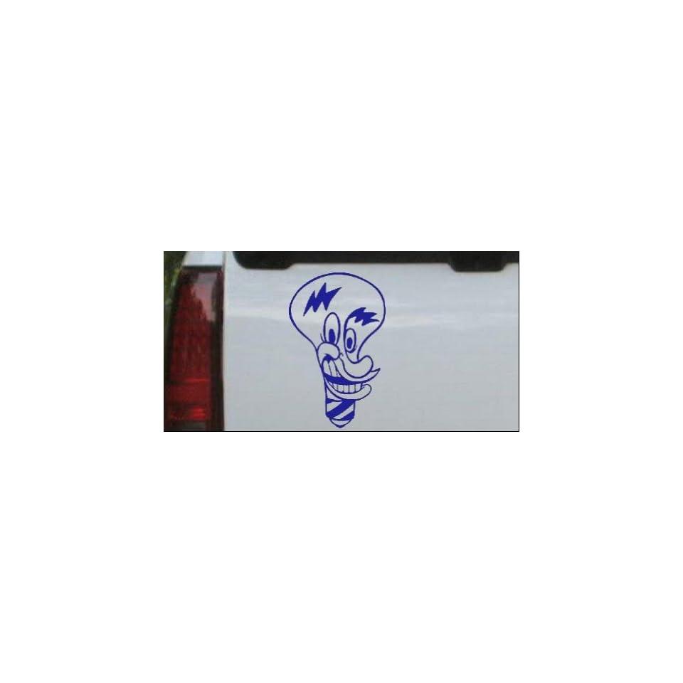 Electrician Light Bulb Business Car Window Wall Laptop Decal Sticker    Blue 16in X 10.1in