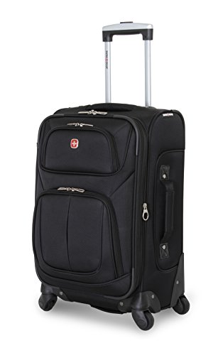 SwissGear Sion 21″ Black Carry-On Luggage, Black