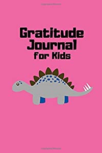 Gratitude Journal for Kids: Daily and Nightly Writing Prompts, Dinosaur Hot Pink